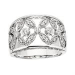 Sterling Silver CZ Flower Ring $149